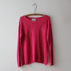 Anthropologie Skies Are Blue Pink Sweater Small